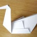 Як зробити лебедя з паперу - орігамі