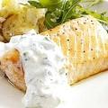 Найніжніший стейк з лосося на пару під апетитним соусом. Відмінне блюдо до святкової вечері!
