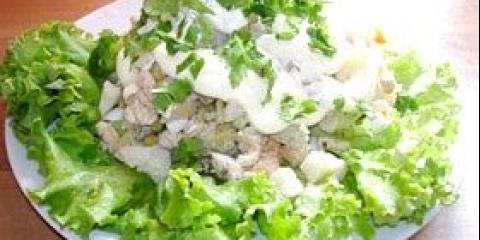 Як готувати салат олів'є з м'ясом. Склад салату олів'є фото
