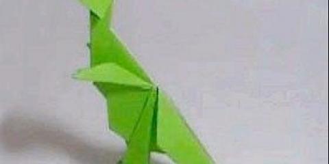 Як зробити динозавра з паперу відео