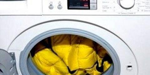 Як прати пуховик в пральній машині?