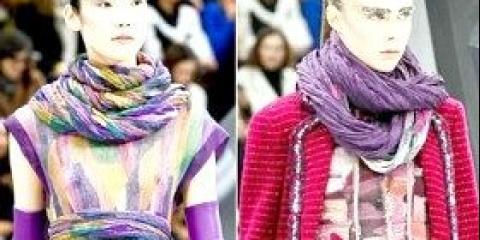 Модні шарфи, осінь-зима 2014-2015 - фото модних жіночих шарфів і хусток 2015