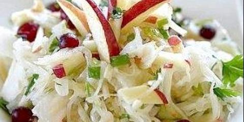 Салат з капусти і яблук на зиму, рецепт заготовки на зиму