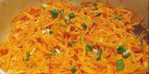 Салат з моркви з олією