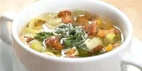 Суп з білих заморожених грибів, рецепт з фото