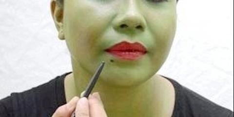 Як зробити макіяж відьми для дівчинки на хеллоуїн, фото