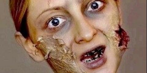 Макіяж зомбі на Хеллоуїн: фото, відео як зробити