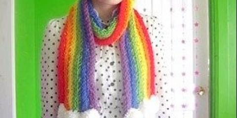 В'язання на руках - шарф, майстер-клас покроково